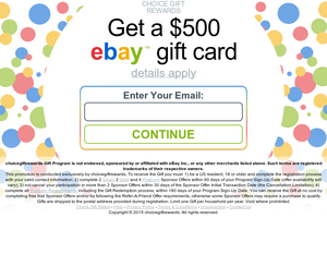 Survey And Win Win A 500 Ebay Gift Card